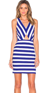Cut Out Stripe Dress by Amour Vert