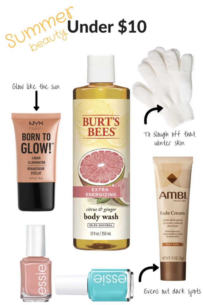 Summer Beauty Products Under $10