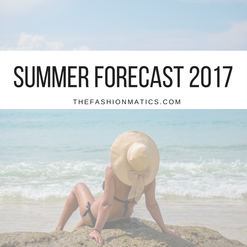 Woman at beach summertime forecast